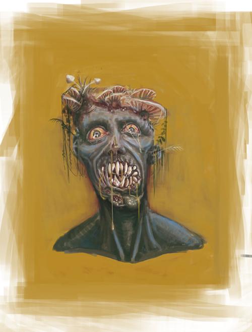 zombie colour sketch